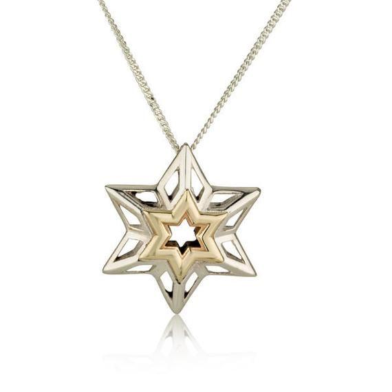 Women Pendant Star of David Jewish Jewelry Gold Silver Pendant Protection Jewelry Silver Necklace David Star Jewelry Kabbalah Pendant