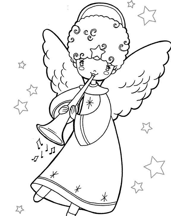 Oltre 25 fantastiche idee su disegni da colorare natalizi for Immagini angeli da colorare
