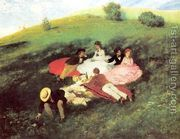 Picnic in May 1873  by Pal Merse Szinyei