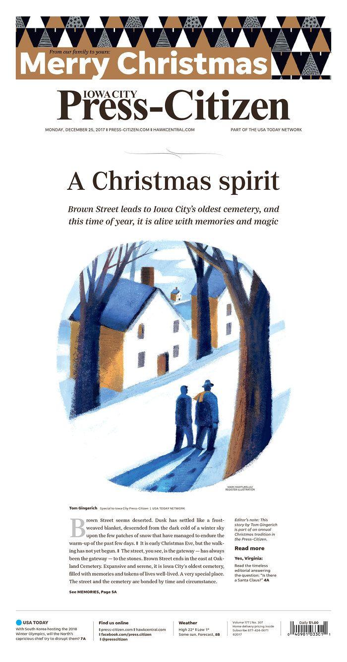 Iowa City Press-Citizen Christmas Day 2017