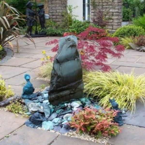 Garden Design Japanese Water Fountain In Mall With Chic: 38 Best Welsh Slate Water Features Images On Pinterest