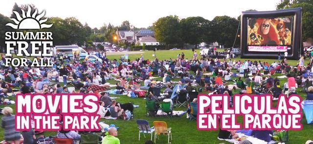 "Movies in the Park 2015- Four movies left this year - ""Napoleon Dynamite"" is next on 9/4/2015"