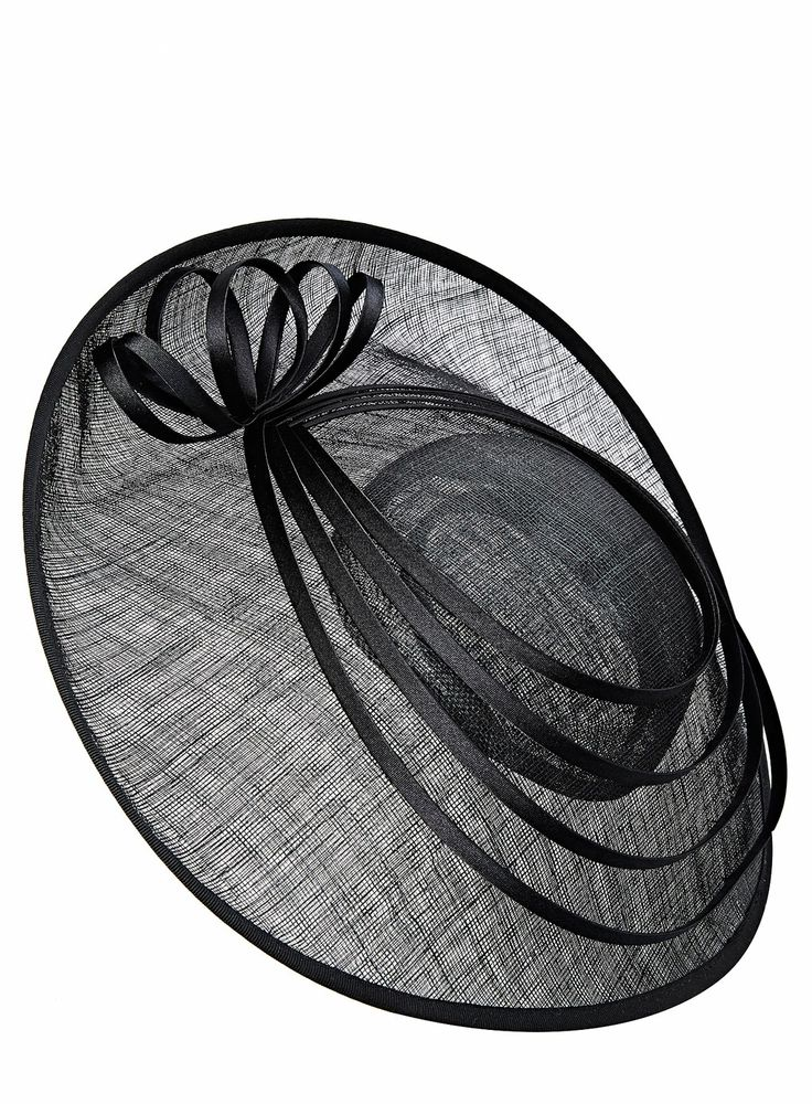 Black Spiral Ring Large Disc Fascinator http://www.weddingheart.co.uk/bhs--mother-of-the-bride.html