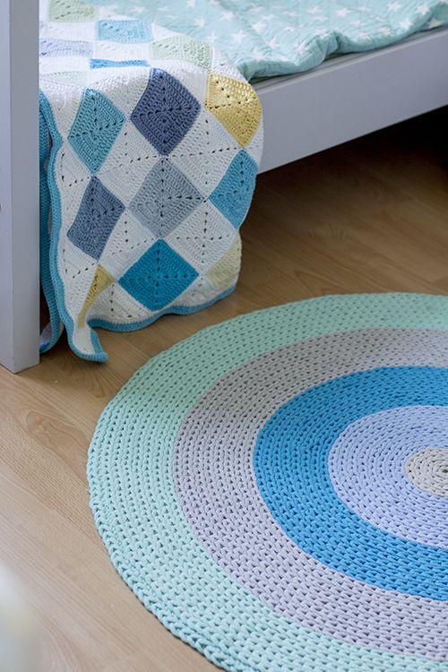 Gu tworzy: Szydełkowy dywanik ze sznurka do pokoju chłopaków