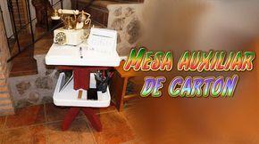 Mesa auxiliar para el teléfono hecha de carton | Aprender manualidades es facilisimo.com
