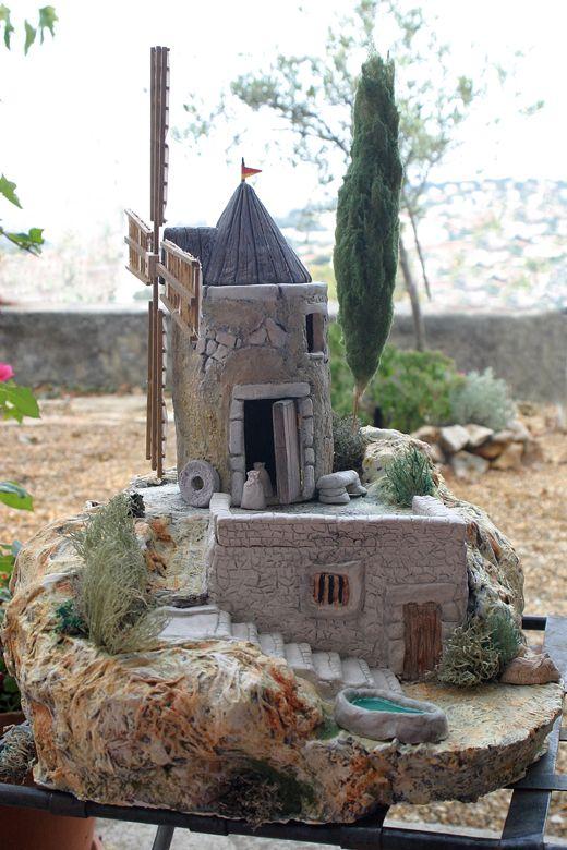 mon nouveau moulin 2009 - crèche provençale et santons Evelyne ARNAUD - Toulon