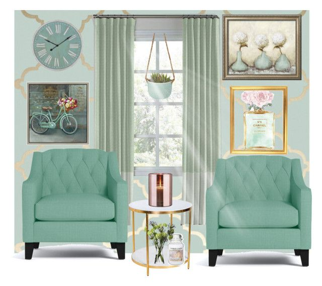 """Mint Living room"" by lulalalala ❤ liked on Polyvore featuring interior, interiors, interior design, home, home decor, interior decorating, Chanel, WALL, Green Leaf Art and Artistica"
