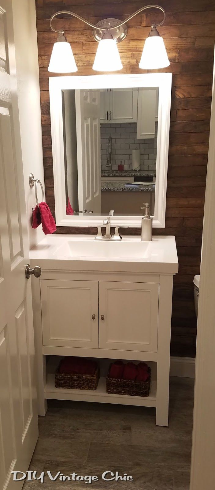 A Blog About Diy Vintage Chic Decor Bathroom Remodel With