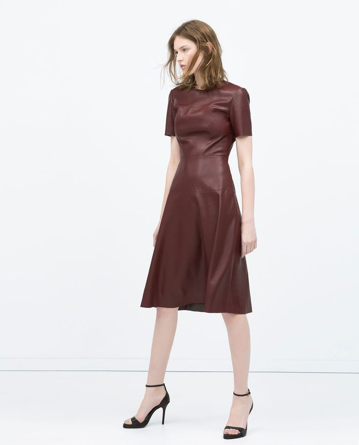 LEATHER EFFECT LAYERED SKIRT DRESS - View all - Dresses - WOMAN | ZARA United States