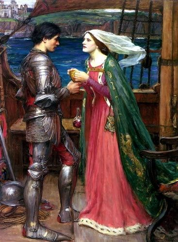 Tristan and Isolde with the Potion John William Waterhouse