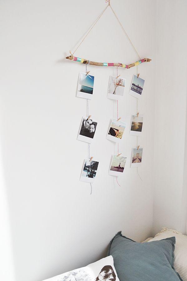 Un marco de fotos hecho con una rama y fotos de Printic* - Little Muna