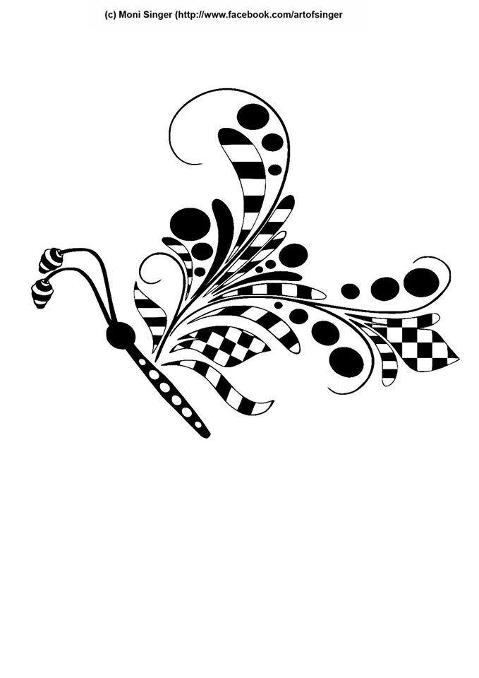 Silhouette plotter file free, Plotter Datei kostenlos, plotter freebie, tangles, butterfly, Schmetterling