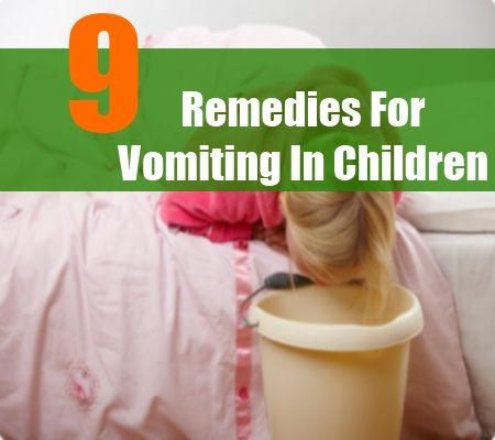 9 Home Remedies For Vomiting In Children