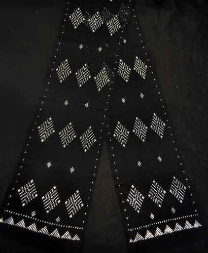 Narrow Assuit Black Silver Belly Dance Hip Scarf Shawl Egypt by Besheer   eBay