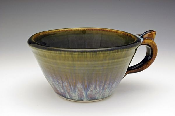 Campbell Pottery soup bowl with handle from seconds