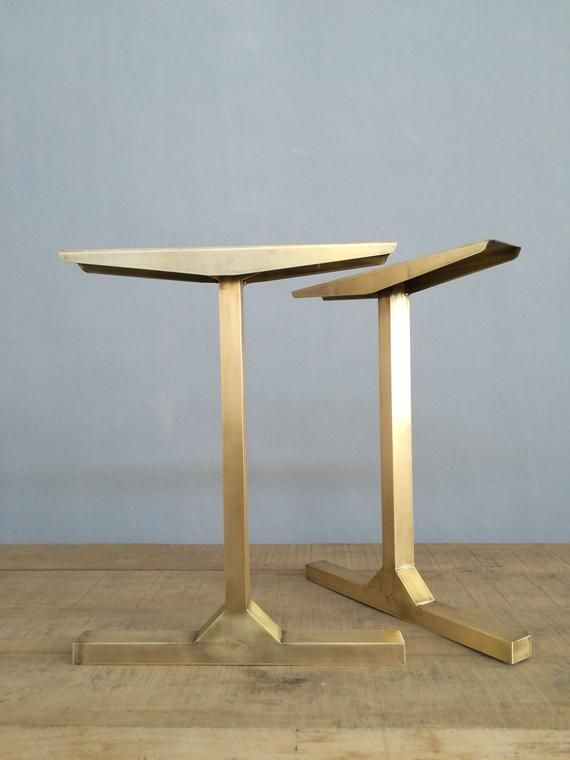 Modern Gold Brass Table Legs 28 Besik Single Bar Etsy Brass Table Legs Table Legs Metal Table Legs