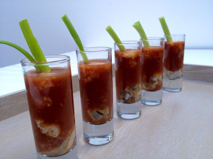 Bloody Mary or Bloody Maria Oyster Shooter recipe from Martie Duncan.  #oysterobsession