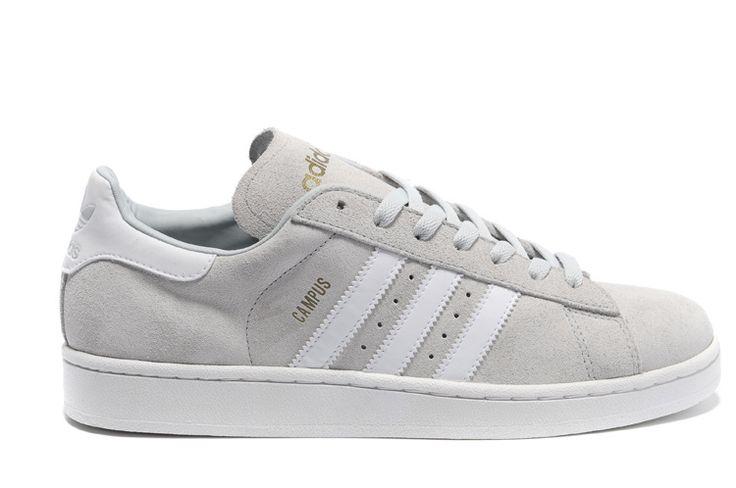 PP9090173 Adidas Campus 2 Suede Shoes blanc gris
