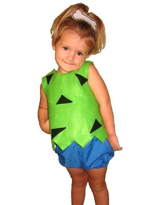 flintstones pebbles costume 6 mo4t custom by
