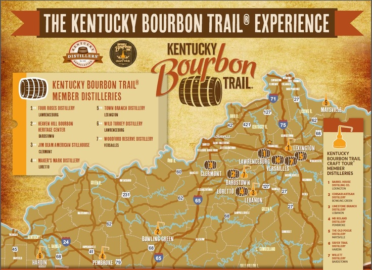 20 best images about kentucky bourbon trail on pinterest for Ky bourbon trail craft tour map