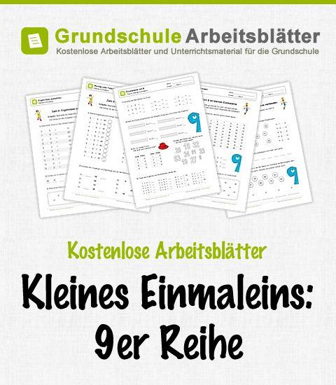 Kostenlose Arbeitsblätter und Unterrichtsmaterial zum Thema Kleines Einmaleins: 9er-Reihe im Mathe-Unterricht in der Grundschule.
