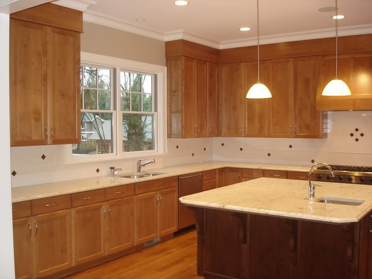 Kitchen soffits wrapped in thin plywood with crown molding for Oak crown molding for kitchen cabinets