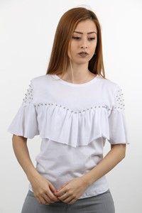 Mint Fırfırlı Bluz