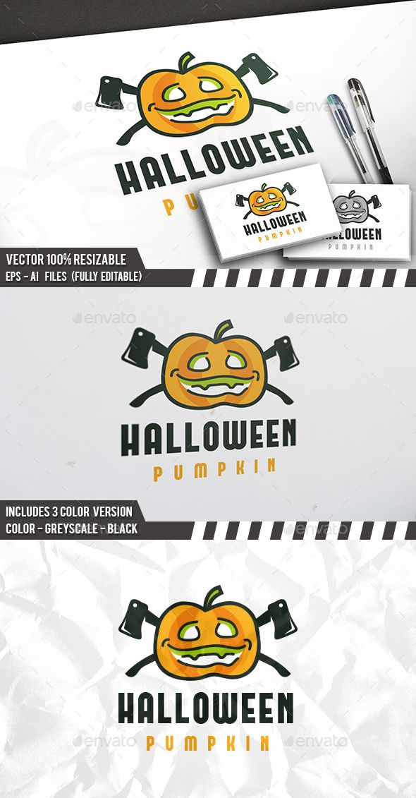 Halloween Logo — Vector EPS #halloween #store • Available here → https://graphicriver.net/item/halloween-logo/13377654?ref=pxcr