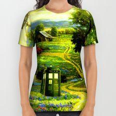 Beautiful Tardis All Over Print Shirt