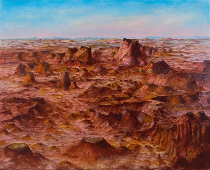 Sir Sidney Nolan, 'Inland Australia', 1950. I saw this painting and the others I've pinned here at a Sidney Nolan exhibition in Melbourne.