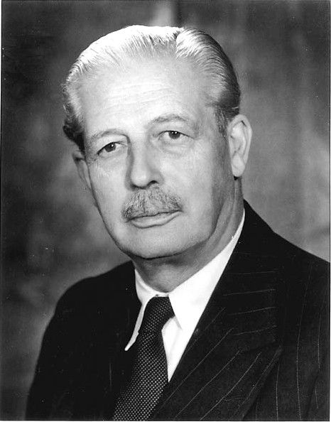 Harold Macmillan (1894–1986) held office from 10 January 1957 to 19 October 1963 during the reign of Elizabeth II