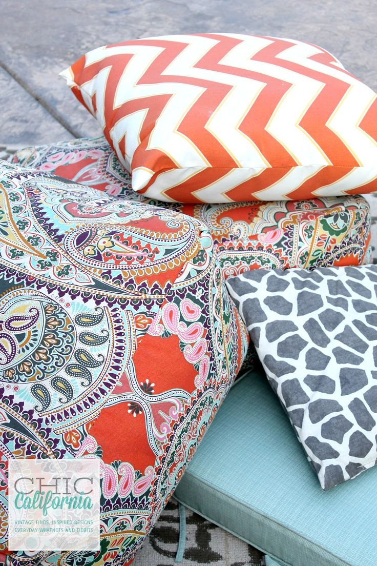 How to Clean Your Outdoor Furniture Cushions - Chic California