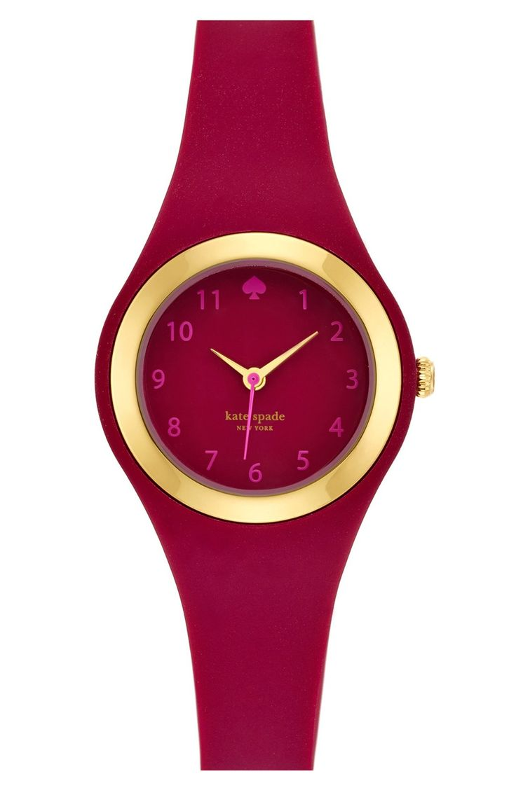 Swooning over this gorgeous marsala and gold Kate Spade watch!