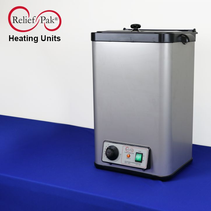 Relief Pak® heating units feature insulation at every size, including 4 and 6 pack units, making them safer and more efficient to use. At operating temperature, the sides and lid of the unit remain safe to touch. The insulation helps to lower operating costs by retaining heat better than the market leader.