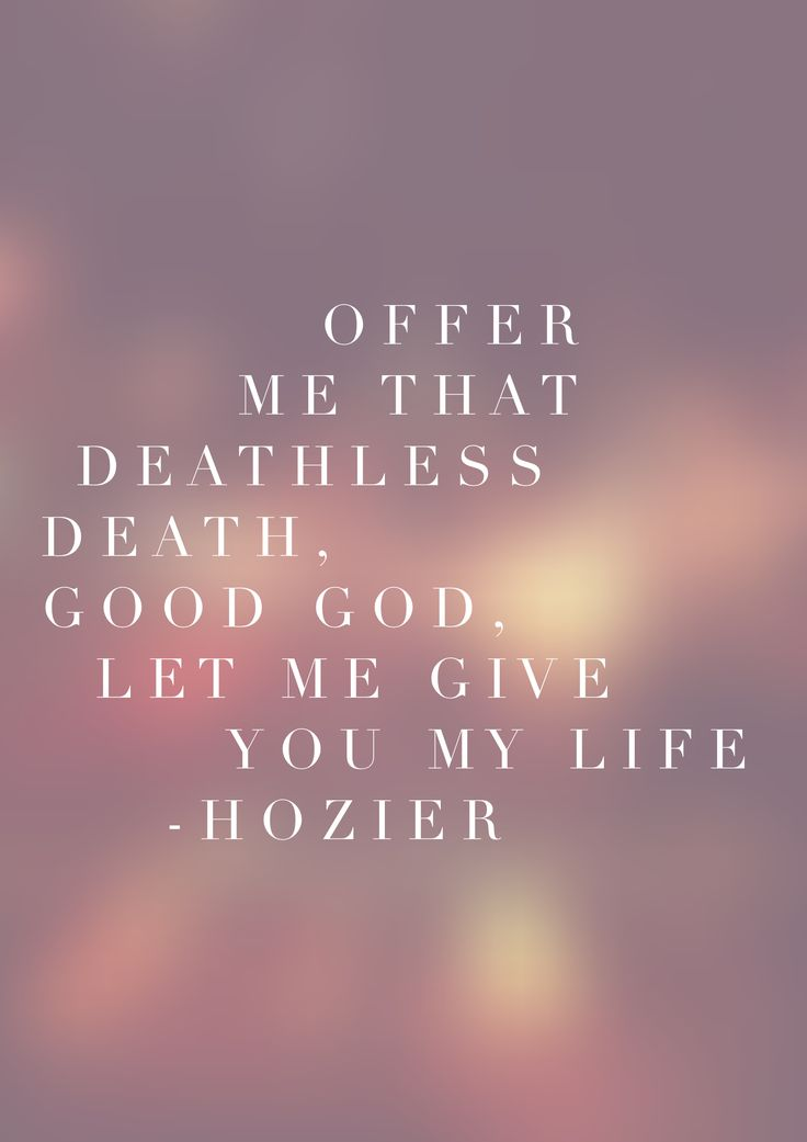 Hozier. Take Me To Church.