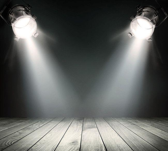 Fundo De Madeira E Holofotes Luzes De Palco Material De Fundo Lights Background Studio Backdrops Backgrounds Stage Lighting