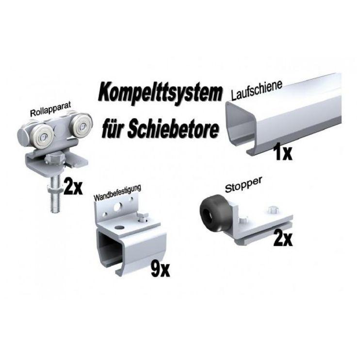 Schiebetore-Shop.de - Schiebetorbeschläge - Bausatz Schiebetor bis 90 kg Wandbefestigung