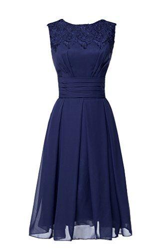 Ikerenwedding Women's Sleeveless Lace Applique Chiffon Short Bridesmaid Prom Dresses Deep Blue US2 Ikerenwedding http://www.amazon.com/dp/B0143U8AGS/ref=cm_sw_r_pi_dp_BDr1vb09D86XX