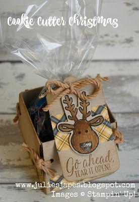 Julie Kettlewell - Stampin Up UK Independent Demonstrator - Order products 24/7: Reindeer Treat Box