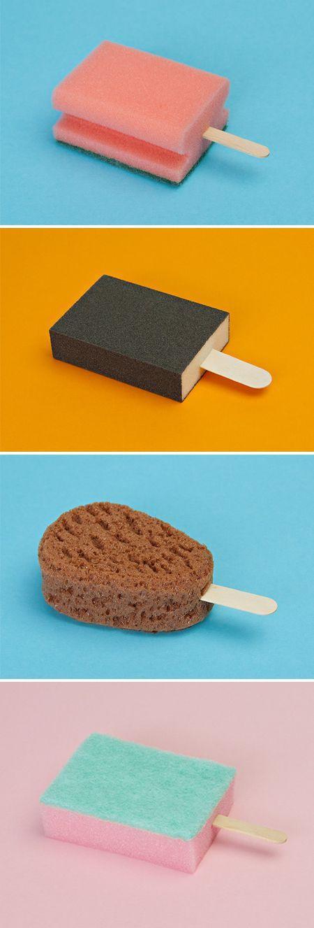 Sponge popsicles!
