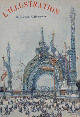 Porte monumentale de René Binet pour l'exposition universelle de 1900 à Paris.