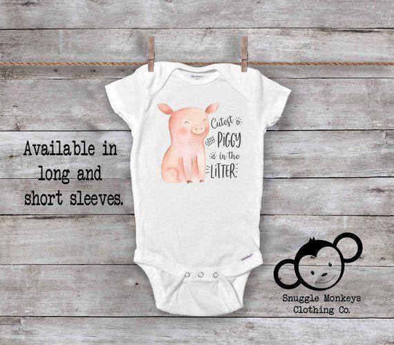 d2705aca71137 Funny Baby Onesie®, Pig Baby Onesie, Farm Onesie, Farm Baby Clothes ...