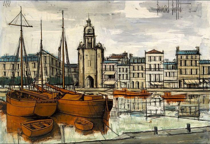 Grand format: La Rochelle, par Bernard Buffet, 1972