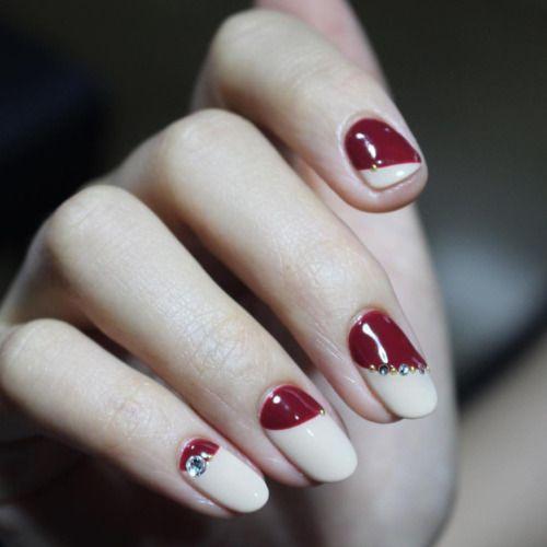 #burgundy #nude #burgundynails #nail #nails #unistella #가을 #버건디