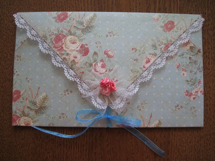 Открытка из ткани на свадьбу, новый год