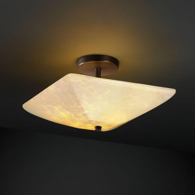 Justice Design Group Fusion Collection Semi Flushmount Light