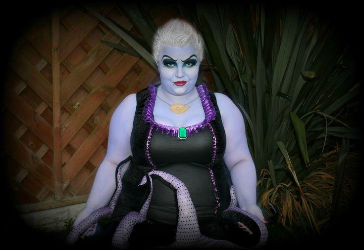 Halloween plus size Ursula makeup