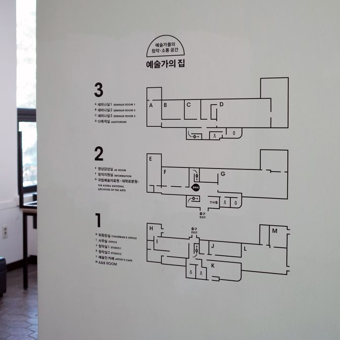 signage system for 'Artist's House' - studio fnt