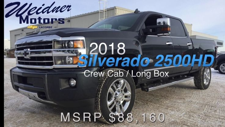 2018 Chevrolet Silverado 2500HD / Crew Cab, Long Box / 3LZ, 4X4, Black /...