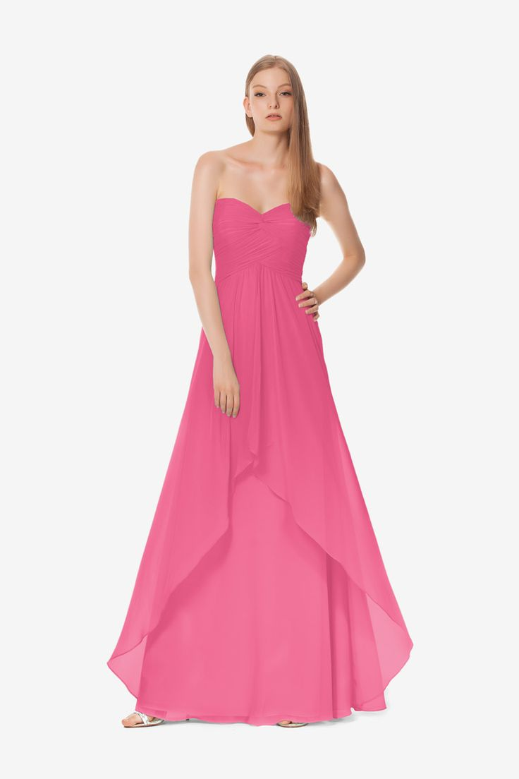 25 best david tutera for gather gown bridesmaids images on stephanie bridesmaid gown by david tutera for gather gown hot pink bridesmaid gown ombrellifo Choice Image
